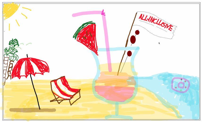 Kritzelspiele, Urlaub, Online Whiteboard