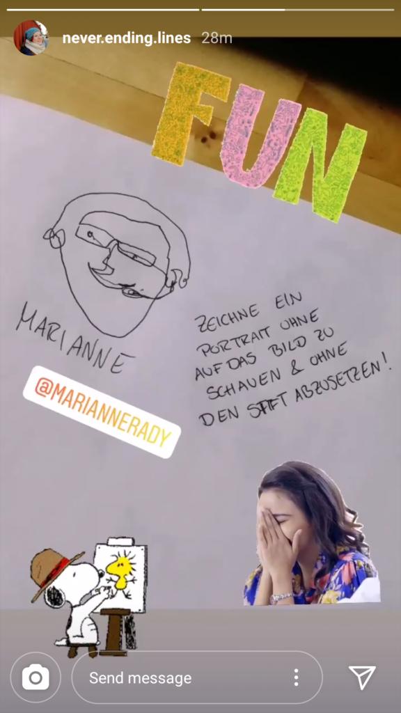 Instagram Story von Marie @never.ending.lines