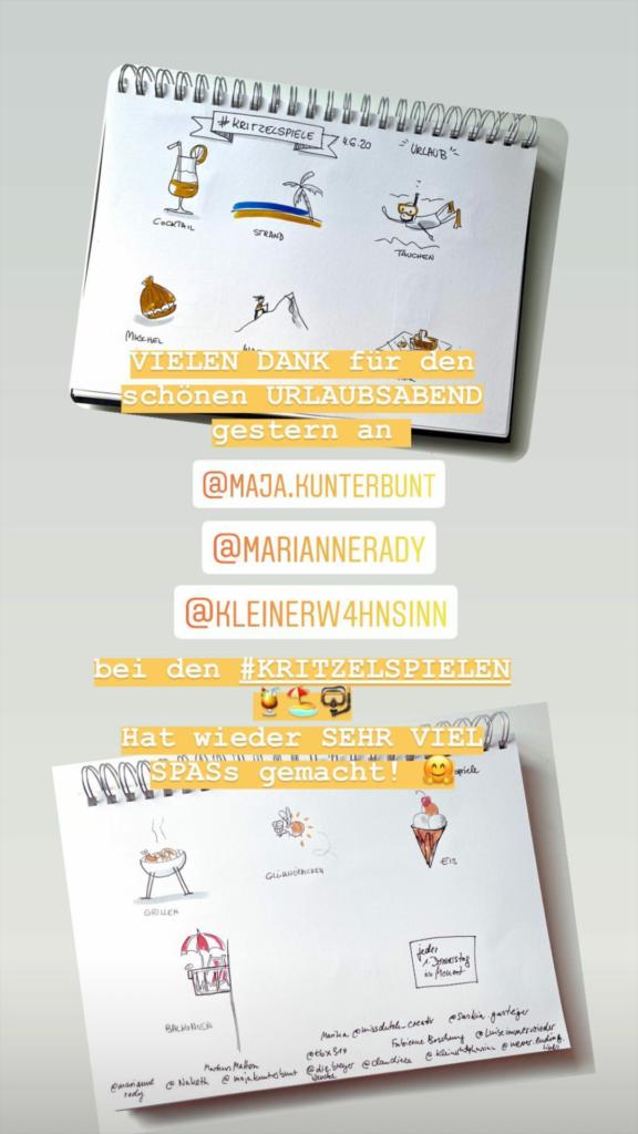 Kritzelspiele, Instagram Story von Telse @telse_ahrweiler